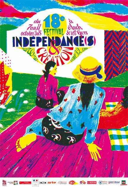 Affiche Indépendances & Création 2015